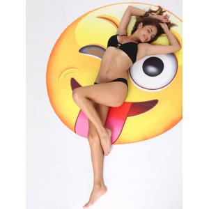 Naughty Tongue Expression Print Round Beach Blanket Lancer -
