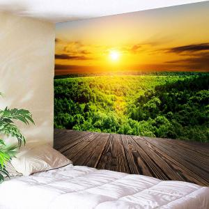 Waterproof Sunset Forest Wall Hanging Tapestry -