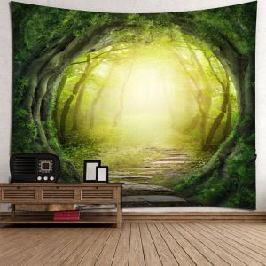 Pathway Tree Hole Waterproof Wall Hanging Tapestry -