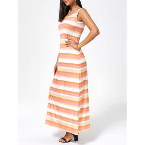 Striped Sleeveless Long Casual Maxi Tank Dress
