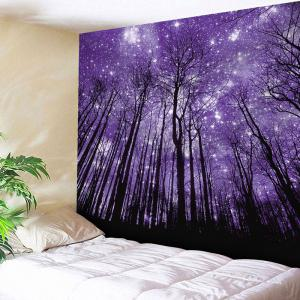 Microfiber Wall Hanging Grove Printed Tapestry - Purple - W91 Inch * L71 Inch