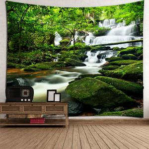 Waterproof Waterfall Forest Wall Hanging Tapestry -