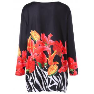 Long Sleeve Floral Plus Size Tunic Tee -