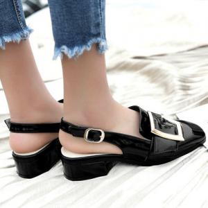 Double Buckle Strap Slingback Pumps -