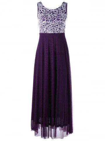 Fancy Maxi Beaded Evening Party Dress COLORMIX 2XL