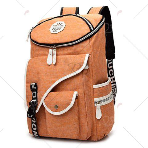 Buy Casual Padded Strap Nylon Backpack - ORANGE  Mobile