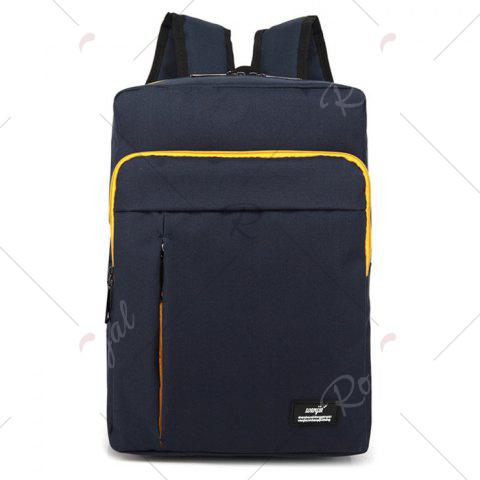 Buy Padded Strap Nylon Backpack - DEEP BLUE  Mobile