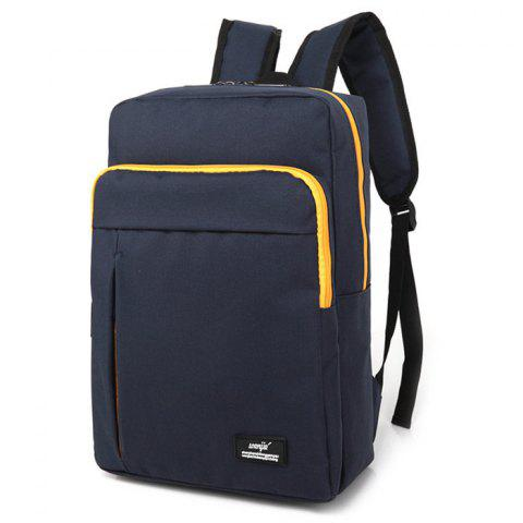 Store Padded Strap Nylon Backpack - DEEP BLUE  Mobile