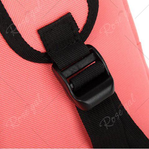 Outfit Padded Strap Nylon Backpack - PINK  Mobile