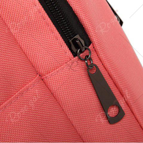 Outfits Padded Strap Nylon Backpack - PINK  Mobile