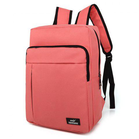 Chic Padded Strap Nylon Backpack PINK