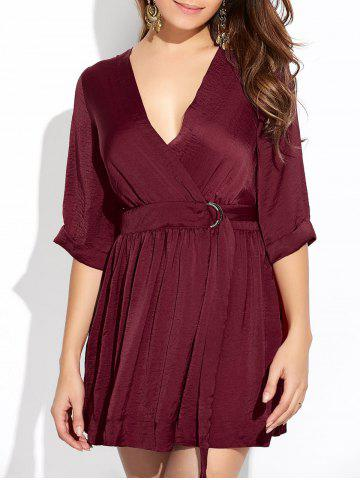 Outfits Wrap Ruched A-Line Dress