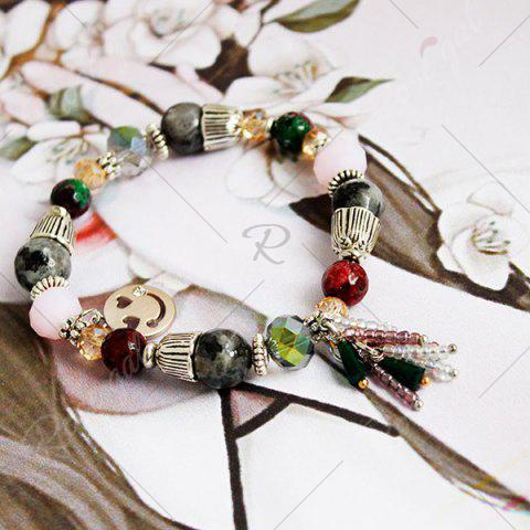 Outfits Artificial Crystal Smile Charm Beaded Bracelet - COLORMIX  Mobile