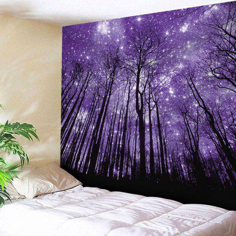Microfiber Wall Hanging Grove Printed Tapestry - Purple - W59 Inch * L51 Inch