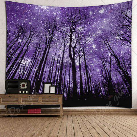 Cheap Microfiber Wall Hanging Grove Printed Tapestry - W79 INCH * L59 INCH PURPLE Mobile