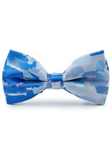 Buy Jacquard Pattern Faux Silk Bow Tie - LIGHT BLUE  Mobile