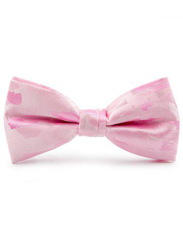 Latest Jacquard Pattern Faux Silk Bow Tie - PINK  Mobile
