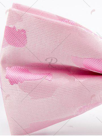 Outfits Jacquard Pattern Faux Silk Bow Tie - PINK  Mobile