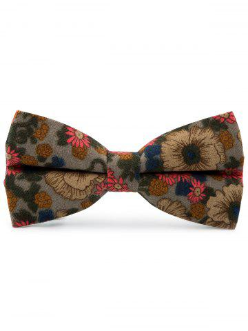 Chic Cotton Blend Tiny Floral Pattern Bow Tie