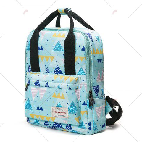 Shop Nylon Printed Backpack - BLUE  Mobile