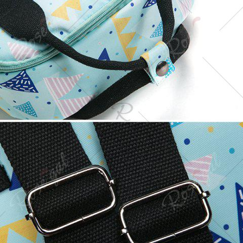 New Nylon Printed Backpack - BLUE  Mobile