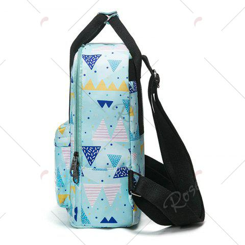 Hot Nylon Printed Backpack - BLUE  Mobile