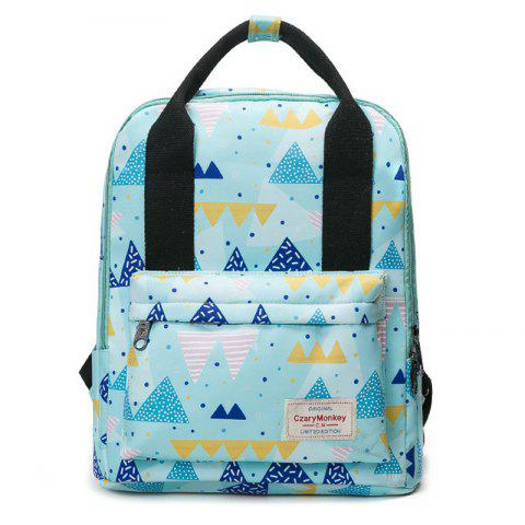 Store Nylon Printed Backpack - BLUE  Mobile