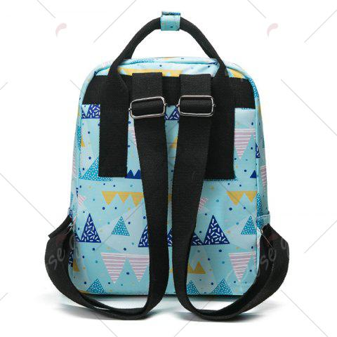 Best Nylon Printed Backpack - BLUE  Mobile