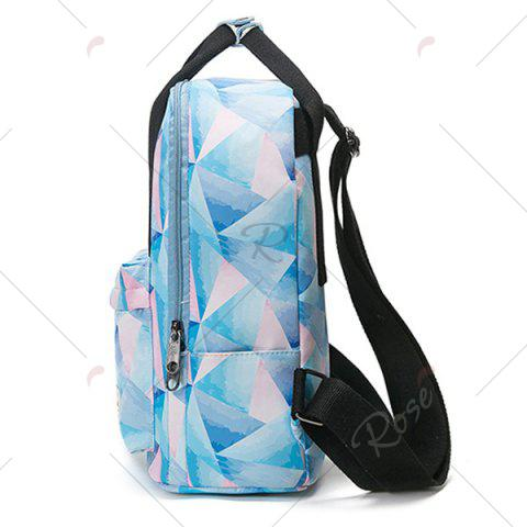 New Nylon Printed Backpack - PINK  Mobile