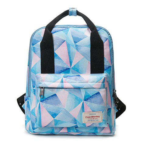 Latest Nylon Printed Backpack - PINK  Mobile