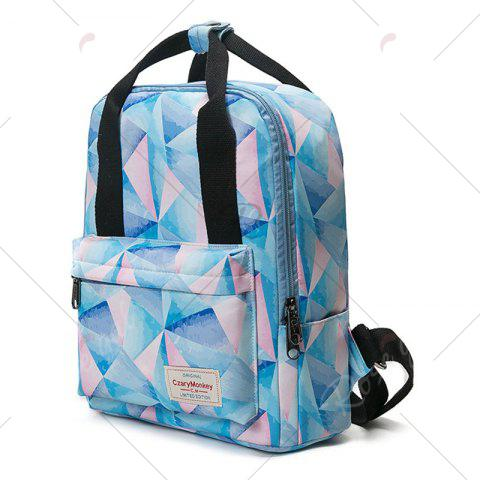 Outfits Nylon Printed Backpack - PINK  Mobile