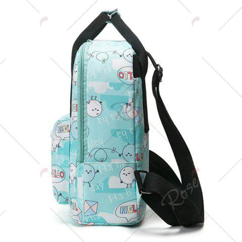 Discount Nylon Printed Backpack - GREEN  Mobile