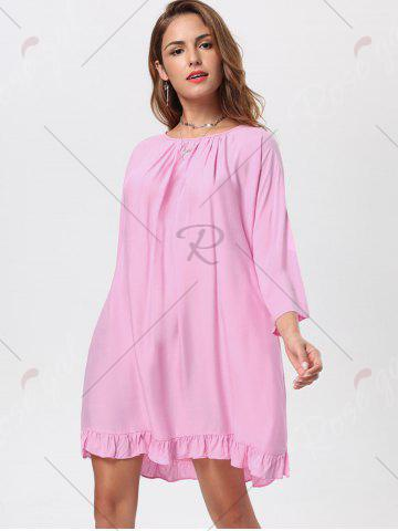 Unique Tassel Lace Up Backless Casual Dress - M PINK Mobile