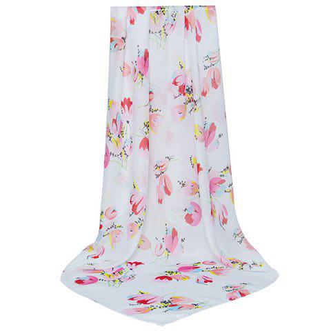 Fancy Lightsome Vintage Flowers Printing Shawl Scarf PINK