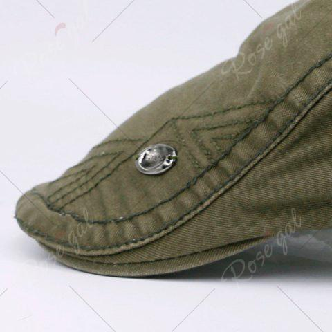 Fancy Label Adjustable Ivy Hat - ARMY GREEN  Mobile