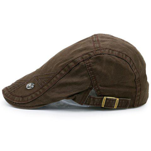 Fancy Label Adjustable Ivy Hat - COFFEE BROWN  Mobile