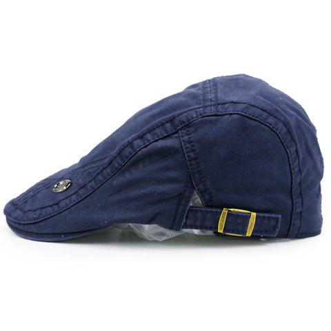 Trendy Label Adjustable Ivy Hat - NAVY BLUE  Mobile