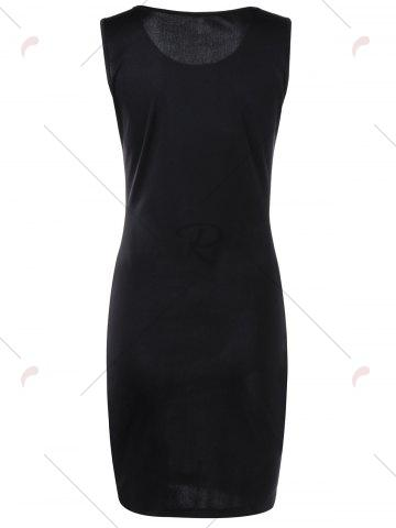 Unique Ink Printing Ombre Sleeveless Bodycon Dress - XL COLORMIX Mobile