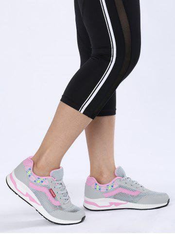 Trendy Geometric Pattern Breathable Athletic Shoes
