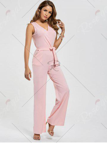 Shops Cutout Wide Leg Jumpsuit - L PINK Mobile