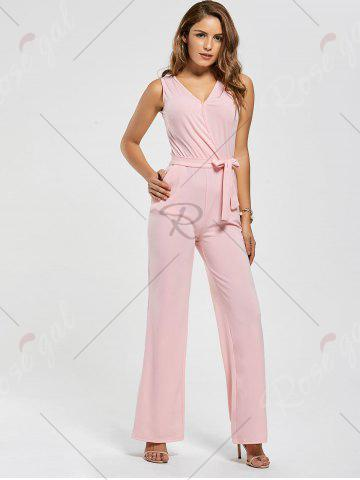 Fashion Cutout Wide Leg Jumpsuit - L PINK Mobile