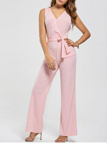 Fashion Cutout Wide Leg Jumpsuit - 2XL PINK Mobile