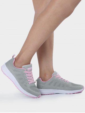 Outfits Breathable Eyelet Embroidery Athletic Shoes