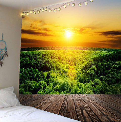 Latest Waterproof Sunset Forest Wall Hanging Tapestry