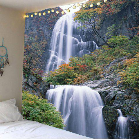 Store Waterfall Maple Tree Waterproof Wall Art Tapestry