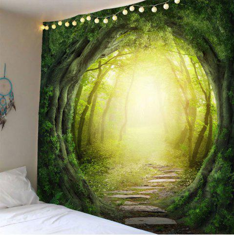 Fancy Pathway Tree Hole Waterproof Wall Hanging Tapestry