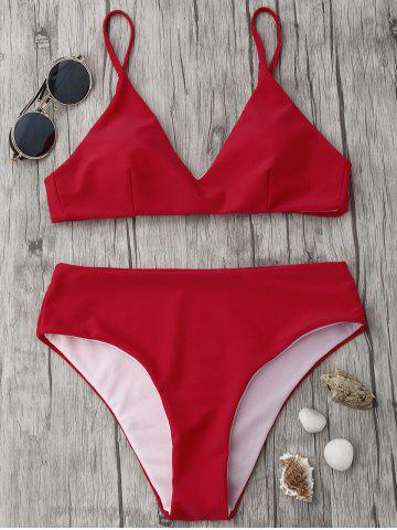 Outfits Spaghetti Strap High Waisted Bikini Set - S RED Mobile