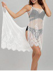 See-Through Wrap Front Cover-Up Dress