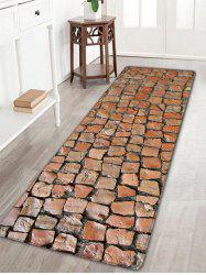 Brick Wall Printed Flannel Skidproof Rug