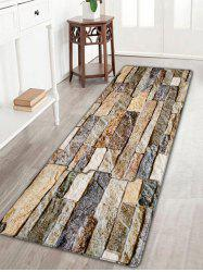 Antislip Flannel Brick Wall Print Area Rug - COLORMIX